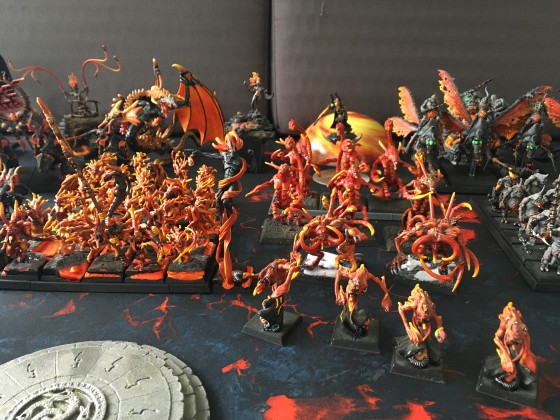 Tiny's Daemon Legions Army (painted)