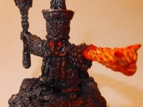 Animated Infernal Dwarf Prophet Statue