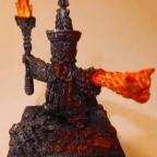 Animated Infernal Dwarf Prophet Statue