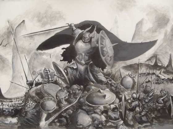 Warrior versus Skeletons
