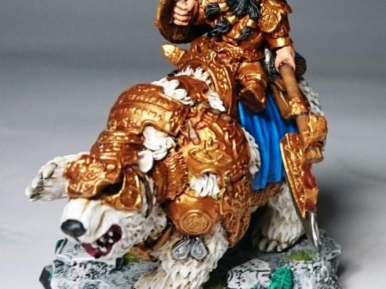 Scibor miniatures bear rider