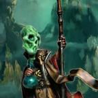 Alchemist wizard using its powers