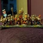 King on War Throne with Greybeards