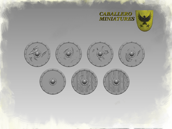 Saxon and Viking Shields by Caballero Miniatures