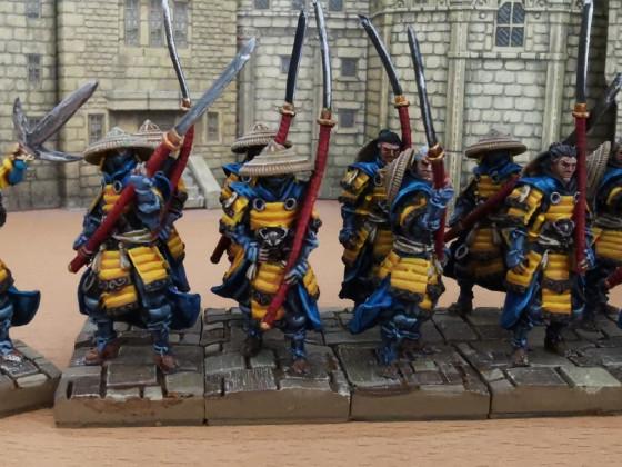Ashigaru with Champion (aka Heavy Infantry)