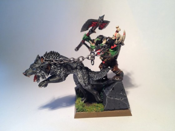 Orc Warlord with Wolf