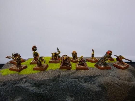 "Unit of Hill Goblins according to Cédric ""Greengoffik"""