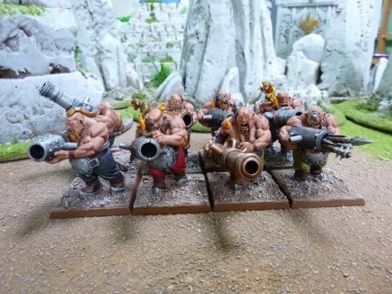 "Ogre Cannoneers according to Cédric ""Greengoffik"""