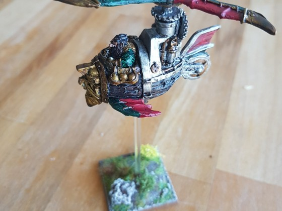 Steam copter painted with contrast colours