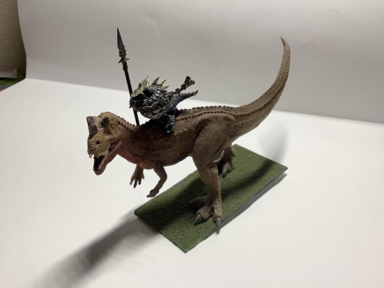Lawgnome's Warlord on an Alpha Carnosaur