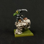 MOM Miniatures: Cave Goblin on Cave Gnasher