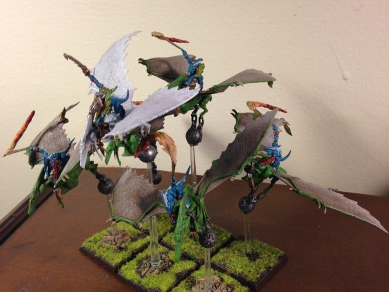 Skink Sky Riders and Skink Captain on Pteradactyl