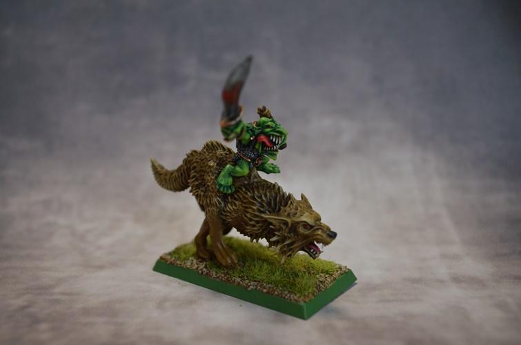 Goblin Chief on Wolf / Jefe Goblin en Lobo