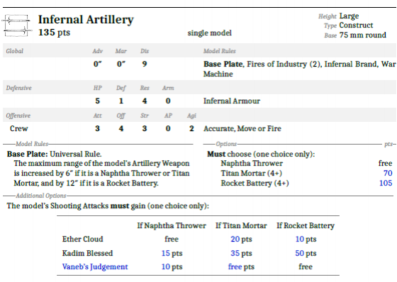Infernal Artillery