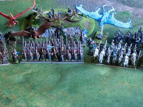 High Elves Army Full Display of Battleline