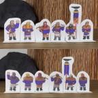 Clan Marksmen Compatible Paper Miniatures - Purple