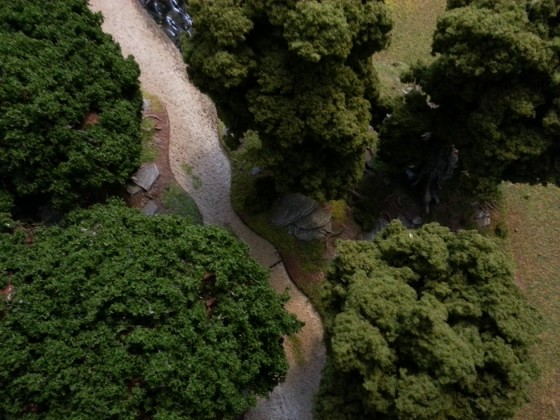 Overhead view showing both GW Citadel woods kits with improved foliage