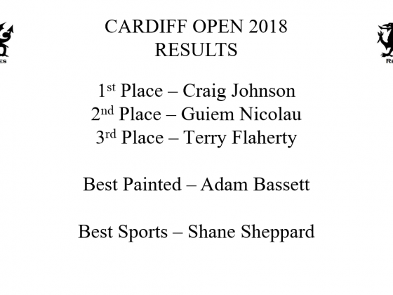 "Full Results for ""Vale Renegades Cardiff Open 2018"""