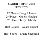 """Full Results for """"Vale Renegades Cardiff Open 2018"""""""