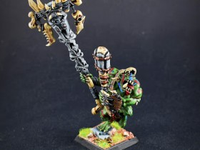 Feral orc boss with Battle Standard