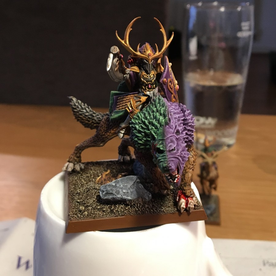Forest Prince on Great Wolf (Elk)