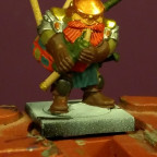 Mantic Dwarf with Bagpipes front