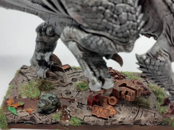 Saurian veteran on carnosaur