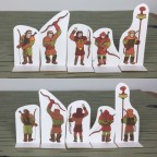 Sylvan Elves - Sylvan Archers Paper Miniatures