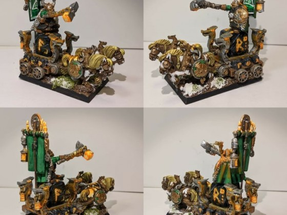 Dwarf King on War Throne / Holdstone