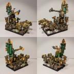 Dwarf King on War Throne / Holdstone