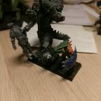 Saurian Warlord and GW Saurus size comparison