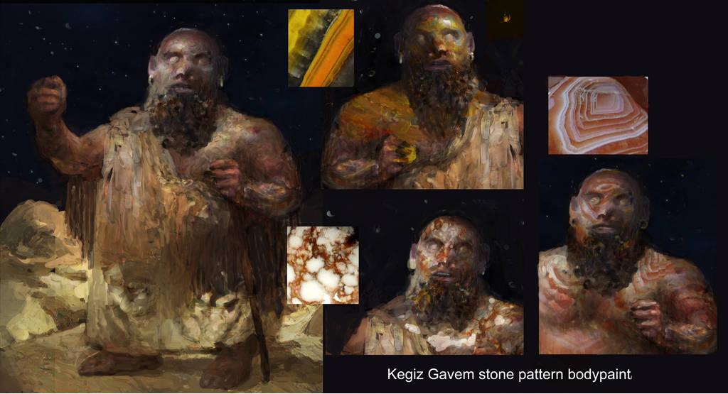 Kegiz Gavem Stone Pattern Body Paint Concept by Igor Levchenko