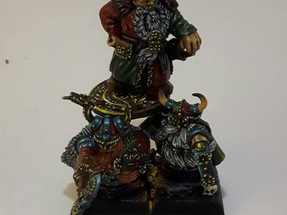 Dwarven King on Shieldbearers