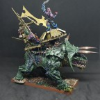 Taurosaur with Engine of the Gods, occasionally with Skink Priest