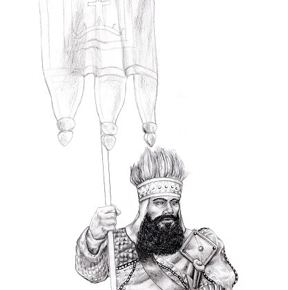 Kegiz Gavem Dwarf Standard Bearer by Paulus Indomitus