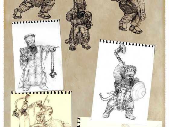 Kegiz Gavem Dwarf Sketches by Paulus Indomitus