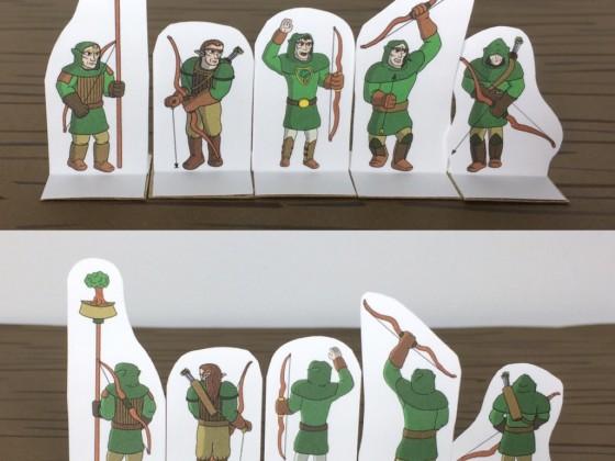 SE Compatible - Sylvan Archers Paper Miniatures
