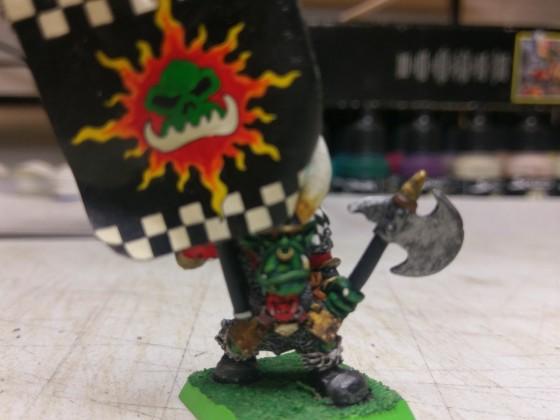Black orc Standard bearer