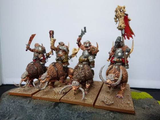 "Unit of Four Mountain Raiders according to Cédric ""Greengoffik"""