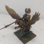 Duke mounted on hippogriff