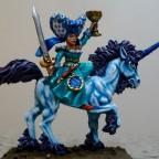 Grail Damsel and Unicorn