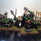 Orc 'Eadbashers with Spear and Shield (and some animosity) Rank 4