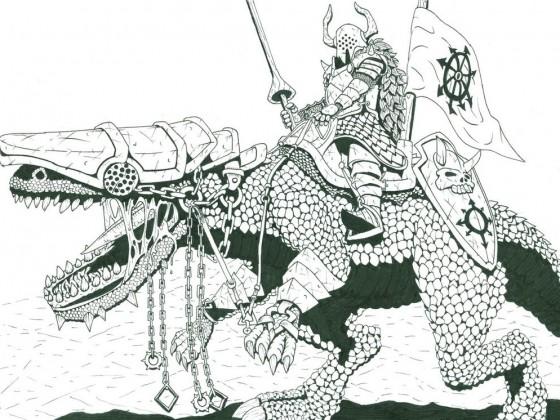 Knight of the Dark Gods by Veli-Matti Pajuniemi