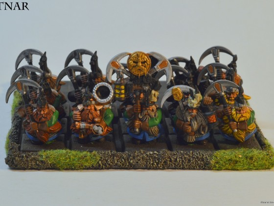 Two sets of miners from the Battle of the Skullpass. Granted I need to finish them...