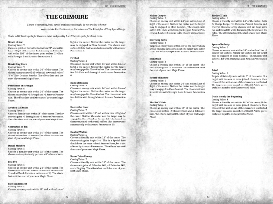 very preliminary Grimoire