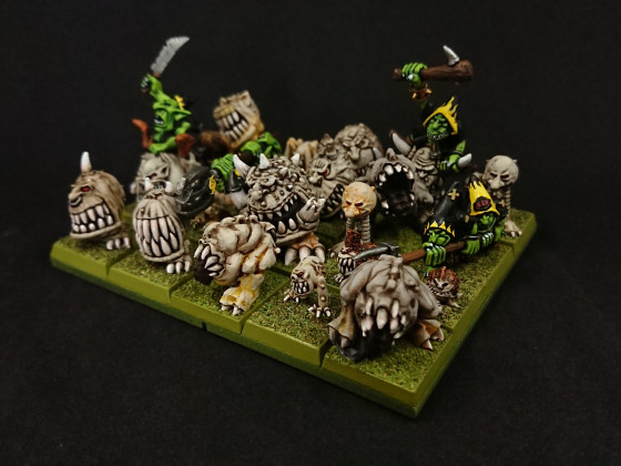 MOM Miniatures - Gnashers mixed with OOP GW Gnashers & Goblins