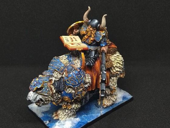 Dwarf King on war throne
