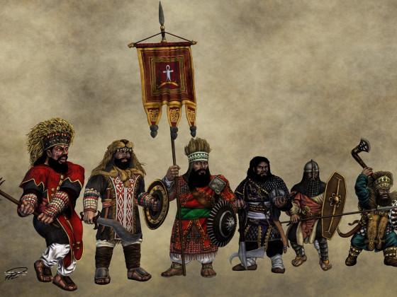 Kegiz Gavem Dwarf Warriors by Paulus Indomitus