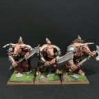 Minotaurs with two-handed weapon