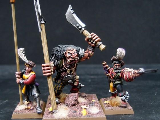 Halberdier Champion, Standard Bearer and second Ogre